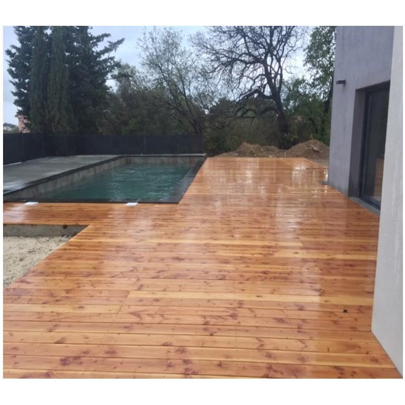 lame de terrasse bois 28x145 lineo douglas naturel lisse prix au m sud bois terrasse bois. Black Bedroom Furniture Sets. Home Design Ideas