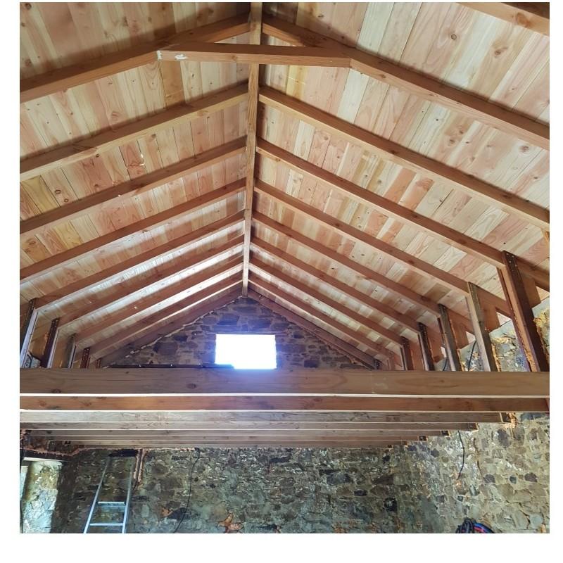 Volige / Plancher / Sous-toiture Mi-Bois 22x135 Douglas 1er Choix 3m - Sud Bois : Terrasse, Bois ...