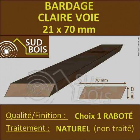 Bardage CLAIRE VOIE Douglas 1er CHOIX 21x70mm Naturel PRIX AU M²
