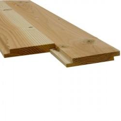 * Plancher/Sous Toiture Mi-Bois Douglas 2nd Choix 22x135 Prix au m²
