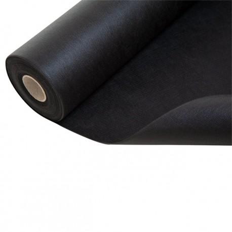 16 m² - Feutre Géotextile Noir / Toile anti-racine 50 g / m² Rouleau de 1.6m x 10m
