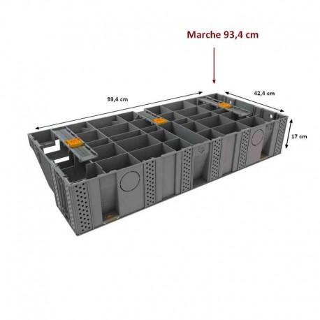 Escalier modulable Modulesca de Jouplast marche 93.4x42.4x17cm