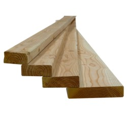 ☺ Lot de 154 Montants d'Ossature Bois 45x95mm ( 45x95 ) Douglas Naturel Séché Raboté 4m
