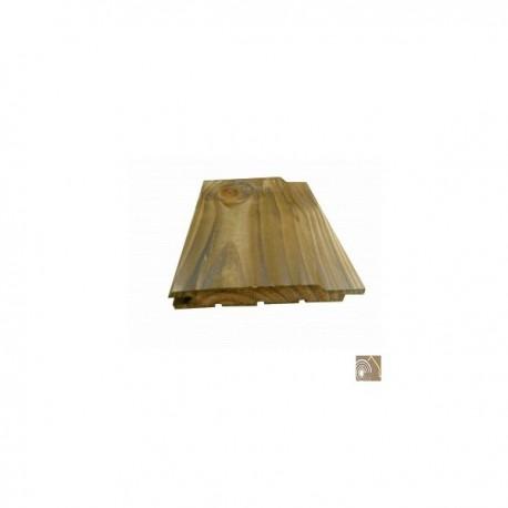 ☺ Lot de 200 lames de bardage (105.60 m²) 21x132 mm Sapin Traité Autoclave Marron Choix 1-2 Rainuré en bout en 4m - Livraison Gr