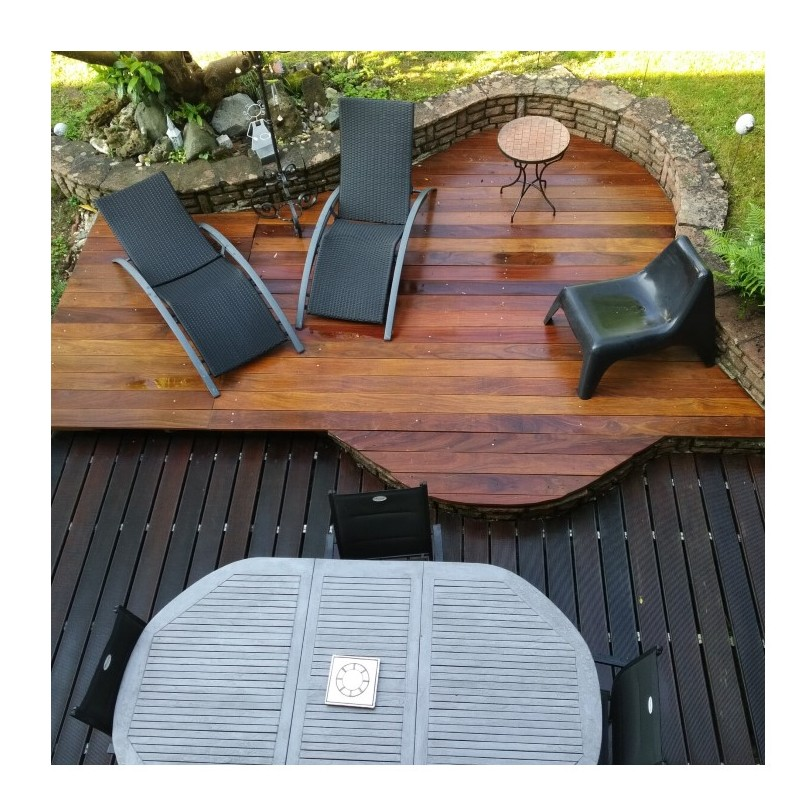 lame de terrasse bois exotique classe 4 cumaru kd 21x145 lisse 1er choix sud bois terrasse. Black Bedroom Furniture Sets. Home Design Ideas