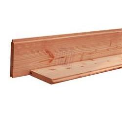 ♦ Planche à Emboîtement 28x95 Douglas Naturel Raboté 3m