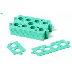 Sachet de 40 Cales Plates Sécables en 4 soit 160 cales de 2 mm d'épaisseur vert 40 x 4 pièces