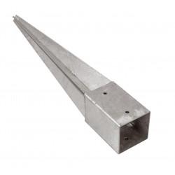 Support pied de poteau 7 x 7 x 90 cm ( 7x7 ) à enfoncer galvanisé à chaud