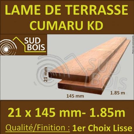 Promo Lame De Terrasse Cumaru Kd 1er Choix 21x145 Lisse 2 Faces 1 85m