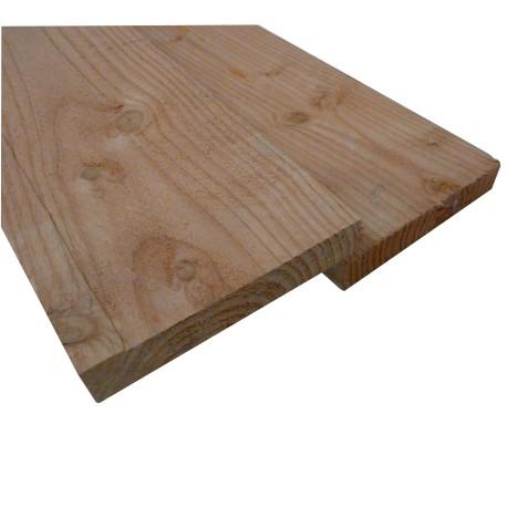 Planche / Volige Sèche à 22x150 ( scié à 23x155 ) Douglas Brut Naturel 3m50