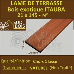 Lame de Terrasse ITAUBA 21x145 mm Lisse 1er Choix Longueur de 1m85 et + Prix au m²