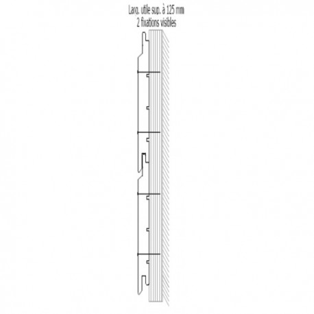 * Bardage St Louis 21x122 Douglas Traité Autoclave Marron 2ème Choix Profil Saint Louis 3m