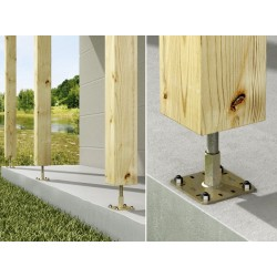 Kit FIX PPRC Prêt à fixer Pied de poteau réglable hauteur 100 à 150 mm SIMPSON