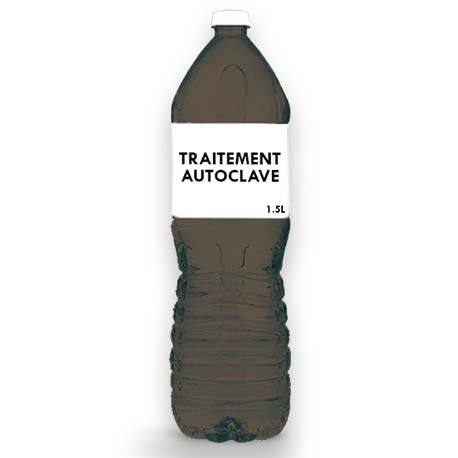 Produit de Traitement Autoclave pour découpes bois autoclaves marron conditionné en 1.5L par nos soins