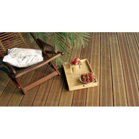 * Lame de Terrasse IPE Striée (2 Peignes ou 6 V) 20x140 ou 21x145 Fixations Invisibles Prix au m²