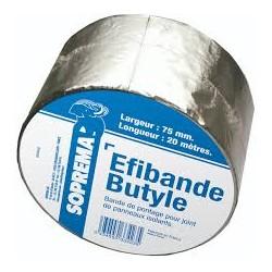 EFIBANDE BUTYLE - Marque EFYOS. Rouleau de 20mx75mm