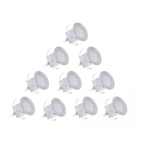 Set de 10 Spots Etanche IP67 à encastrer Ø32 mm + Transformateur 15 W