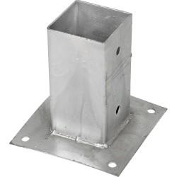 Support pied de poteau bois 70x70 / 7x7 à fixer galvanisé à chaud