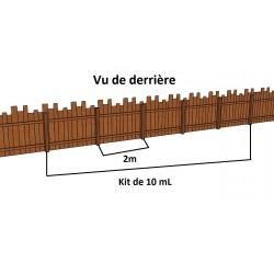 KIT Palissade de 10 mL en Douglas Traité Autoclave Marron. Prix / kit