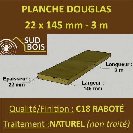 Lame de Terrasse FINO 21x145 Douglas Autoclave Marron Choix 3-4 en 3m