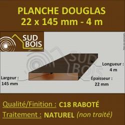 Lame de Terrasse Bois FINO 21x145 Douglas Autoclave Marron 2nd Choix 4m