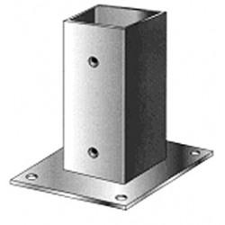 Support pied de poteau bois 100x100 / 10x10 à fixer galvanisé à chaud