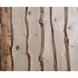 Planche non délignée Épaisseur 18mm Douglas Naturel Brut 4m Prix au m²
