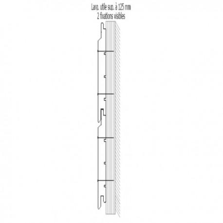 ♦ * Bardage St Louis 21x132 Douglas Autoclave Marron 2ème Choix Profil Élégie 4m