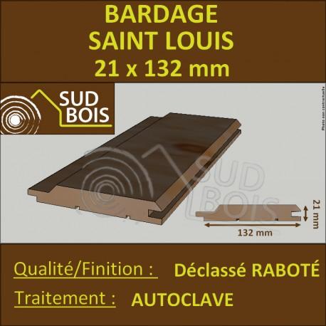 ♦ * Bardage St LOUIS Douglas Choix 2 21x132mm Autoclave PRIX AU M²