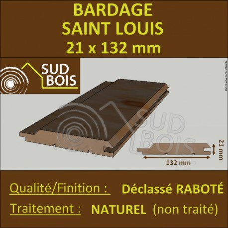 ♦ * Bardage St Louis 21x132 Douglas Naturel 2ème Choix Profil Élégie 4m