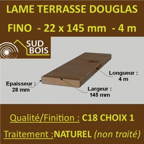 Lame Terrasse FINO 21x145mm Douglas Naturel Choix 1-2 4m