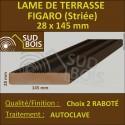 Lame de Terrasse Bois FIGARO 27x145 Douglas Autoclave Marron Striée 2nd Choix 4m