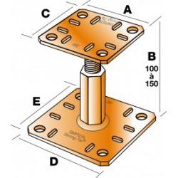 Pied de poteau réglable hauteur PPRC 100 à 150 mm SIMPSON