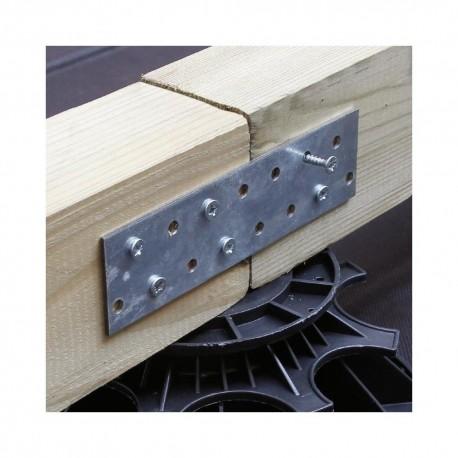 Connecteur Métallique / Platine d'assemblage lisse pour fixation bois 80x200 de 2 mm