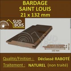 ◙ Bardage St Louis 21x132 Douglas Naturel 2ème Choix Profil Élégie 2m50