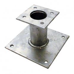 Pied de poteau fixe 150 mm double platine galvanisé