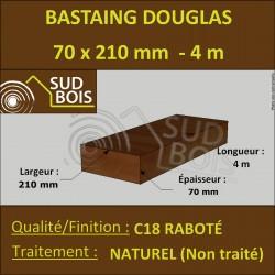 Bastaing / Madrier 70x210 Douglas Naturel Sec Raboté Qualité Charpente 4m