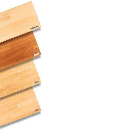 * Plan de travail en bois massif Epaisseur 42 mm