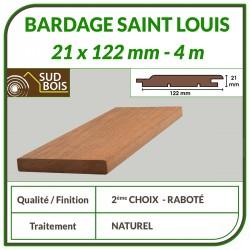 ♦ ◙ Lame de Bardage Bois St Louis 21x125 Douglas Naturel 2ème Choix 4m