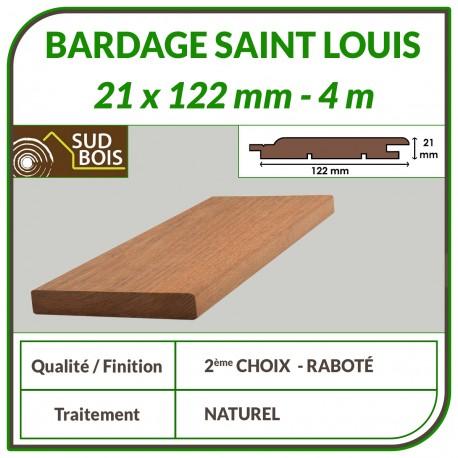 ♦ Lame de Bardage Bois St Louis 21x125 Douglas Naturel 2ème Choix 4m