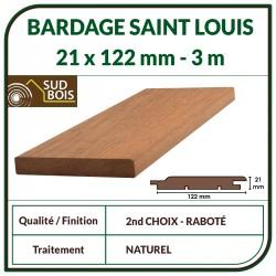 ♦ Lame de Bardage Bois St Louis 21x125 Douglas Naturel 2ème Choix 3m