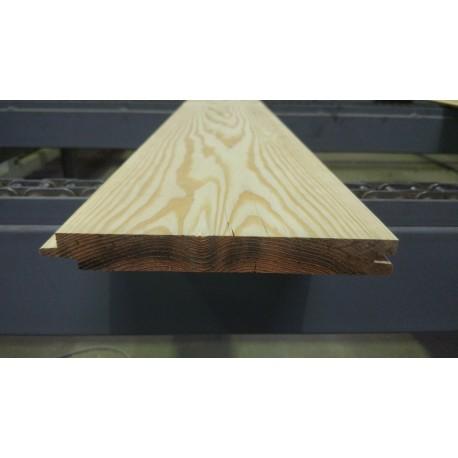 Lambris / Planche à emboîtement à Joints Creux 21x180mm Douglas Naturel 2nd Choix. Prix à la lame de 3m