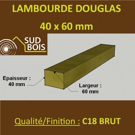 Palette de 102 Lambourdes / Chevrons 40x60 Douglas Brut