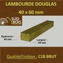 * Palette de 102 Lambourdes / Chevrons 60x40 Douglas Brut