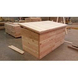 Panneau / Caisson Toiture pour 2x1m Finition Mi-Bois Douglas Naturel