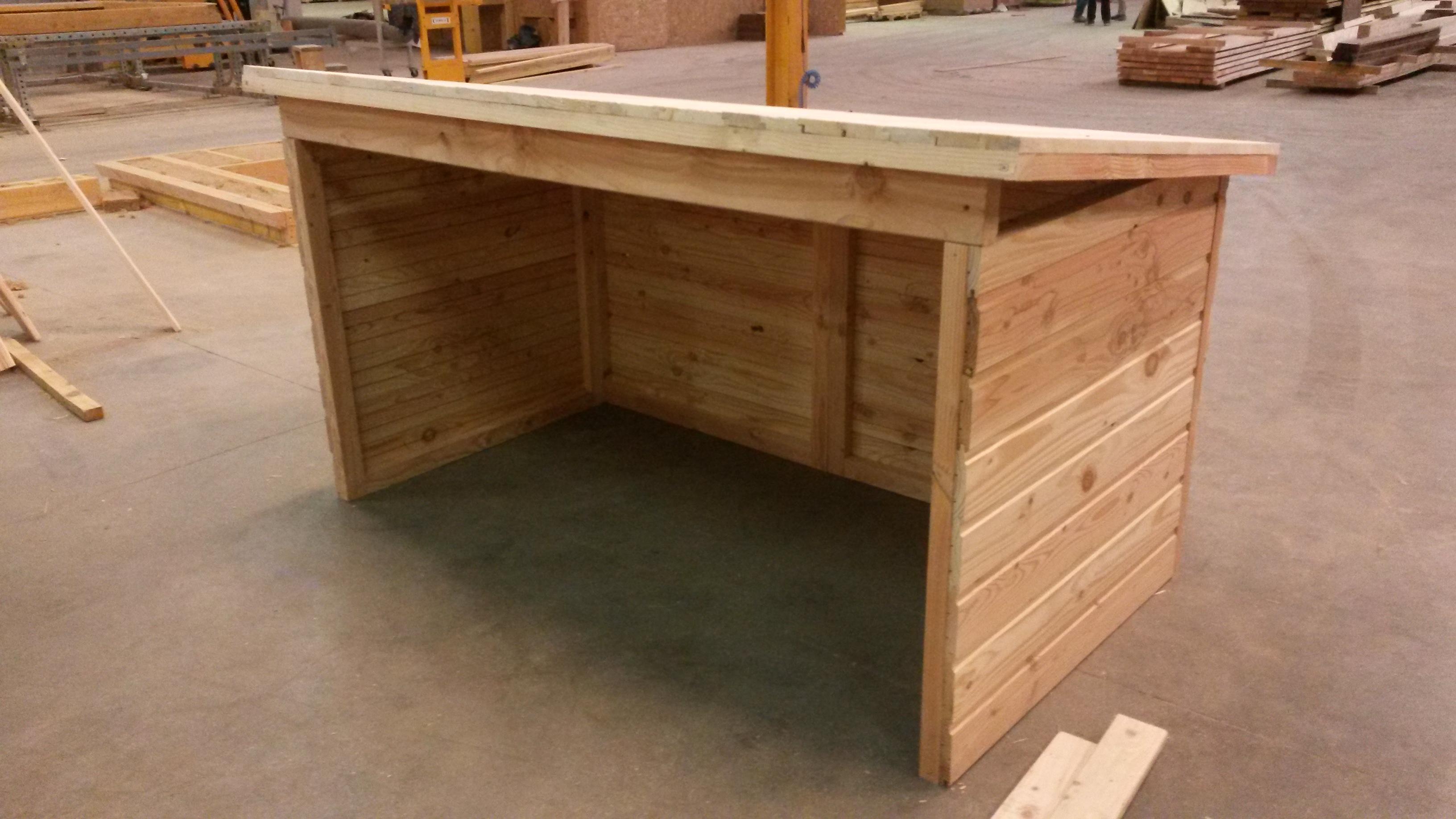 Abri De Jardin En Pin Douglas kit céven'abri 2x1x1m douglas naturel ouvert - sud bois