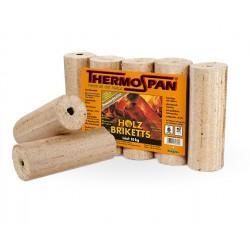* Pack de 5 Bûches Bois Densifiés Haute Performance 10 kilos Vendu à la palette