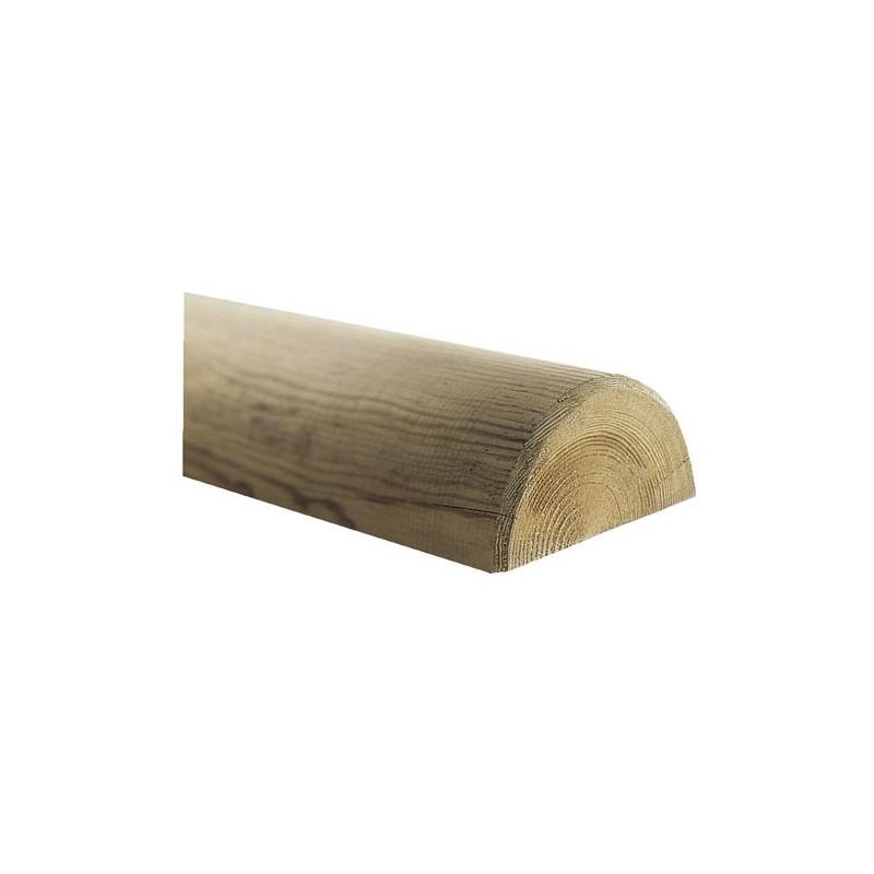 demi rondin bois frais pin autoclave classe 4 d 140mm. Black Bedroom Furniture Sets. Home Design Ideas