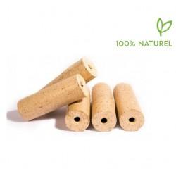 * Palette de 112 packs de 10 kilos de Bûches Bois Compressés Livraison Gratuite Zone A1