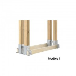 Kit complet réserve bois bûche 1m x 1 m. Prix / kit Livraison Comprise